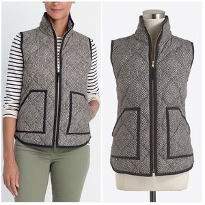 J. Crew Factory Jackets & Coats - J. Crew Black Herringbone Zip Up Vest Sz Medium